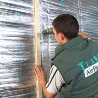 Airflex muurisolatie installatie