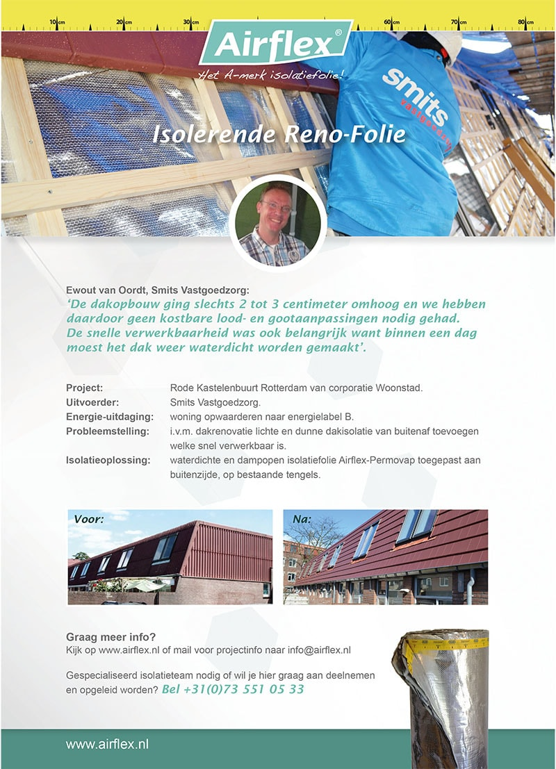 advertentie isolerende renovatie folie
