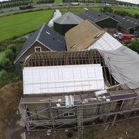 Airflex rieten dak isolatie drone
