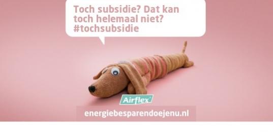 """Nu tijdelijk 15% """"subsidie"""" op Airflex isolatiefolie"""