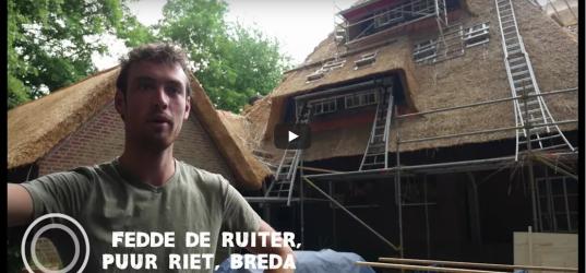 Renovatie rieten dak door Puur Riet in beeld gebracht