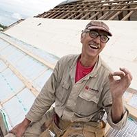 dakdekker isoleert rieten dak met airflex